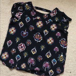 Loft Outlet flutter sleeve blouse